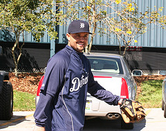Polanco arrives at spring training