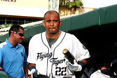 Carlols Guillen with the Lakeland Flying Tigers - cr Roger DeWitt