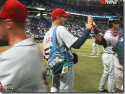 Galarraga carries the bag - screen grab from Sports Center