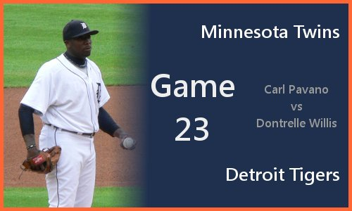Game 23: Dontrelle Willis vs Carl Pavano