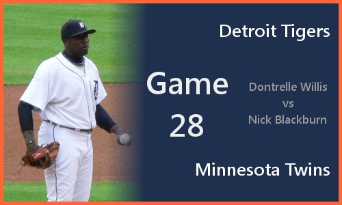 Game 28: Dontrelle Willis vs Nick Blackburn
