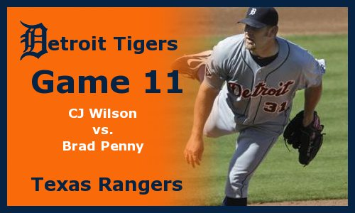 Post image for Game 2011.11: Rangers at Tigers