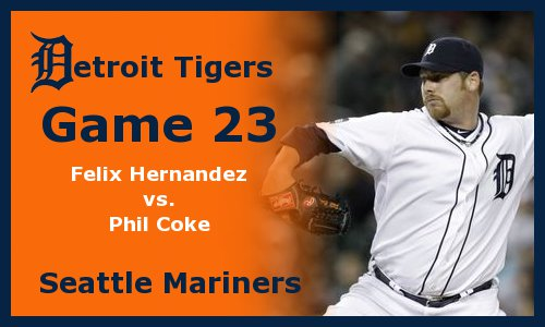 Post image for Game 2011.23: Mariners at Tigers