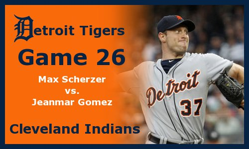 Post image for Game 2011.26:  Tigers at Indians