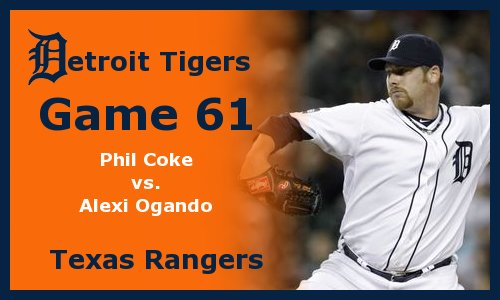 Post image for Game 2011.61:  Tigers at Rangers