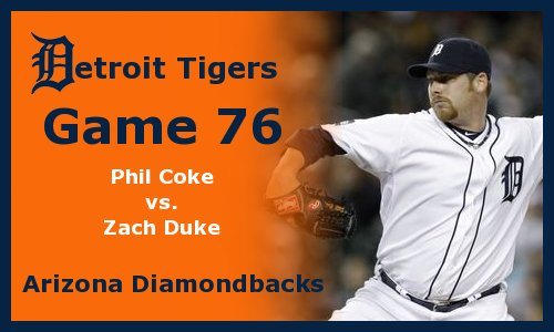 Post image for Game 2011.76:  Diamondbacks at Tigers