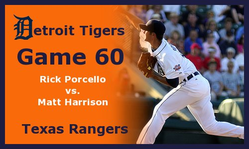 Post image for Game 2011.60:  Tigers at Rangers