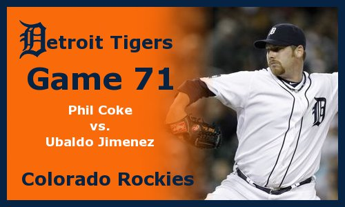 Post image for Game 2011.71: Tigers at Rockies