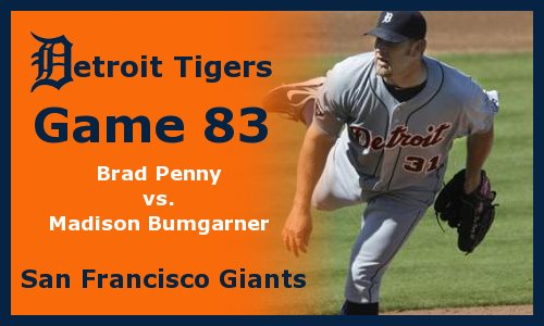 Post image for Game 2011.83:  Giants at Tigers