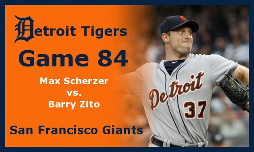 Post image for Game 2011.84:  Giants at Tigers
