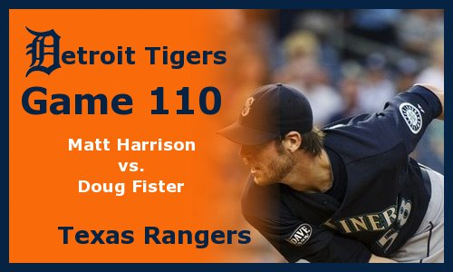 Post image for Game 2011.110: Rangers at Tigers