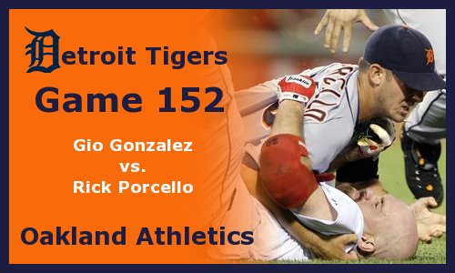 Post image for Game 2011.152:  Tigers at A's