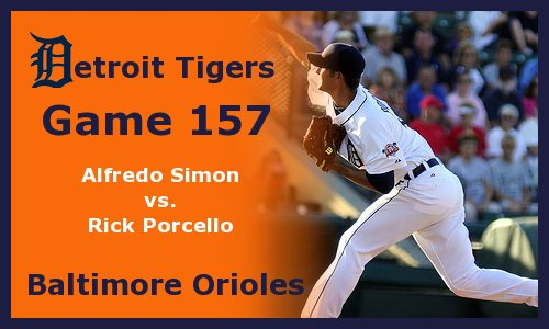 Post image for Game 2011.157:  Orioles at Tigers