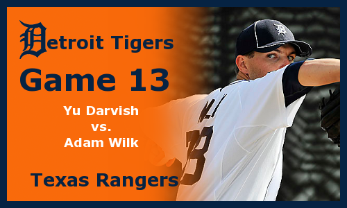 Post image for Game 2012.13: Rangers at Tigers