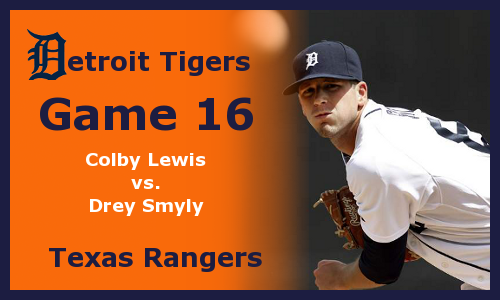 Post image for Game 2012.16: Rangers at Tigers