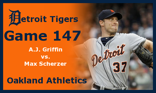 Post image for Game 2012.147: Athletics at Tigers