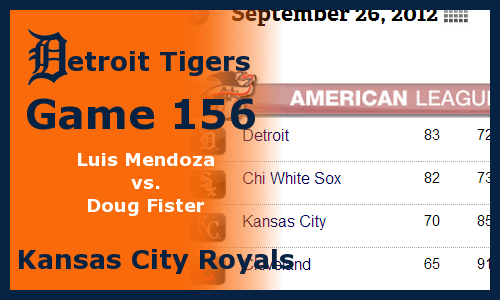 Post image for Game 2012.156: Royals at Tigers