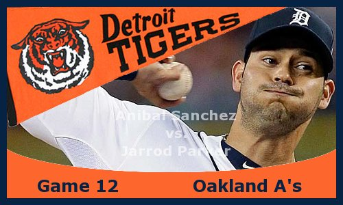 Post image for Game 2013.12: Tigers at A's