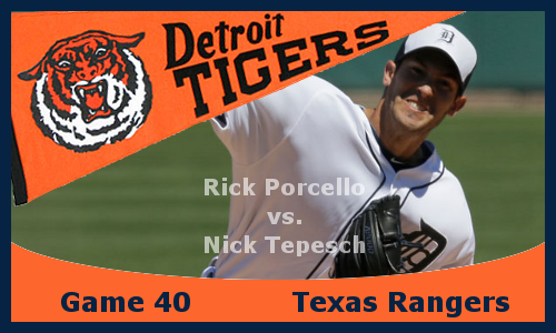 Post image for Game 2013.40: Tigers at Rangers