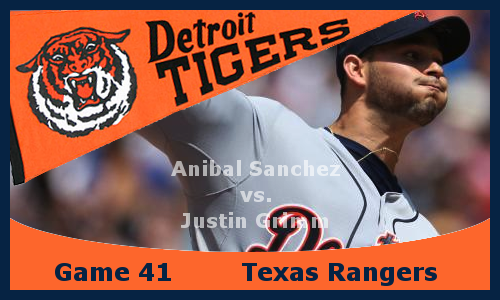 Game 2013.41: Tigers at Rangers