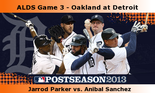Post image for Game 2013. Playoffs 3: Athletics at Tigers