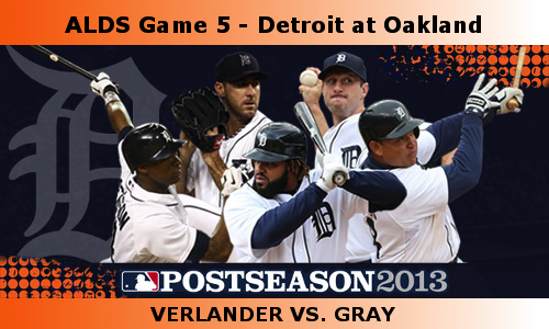 Post image for Game 2013. Playoffs 5: Tigers at A's