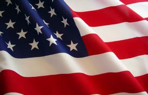 American Flag sized